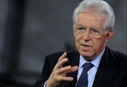 Italian Prime Minister Mario Monti