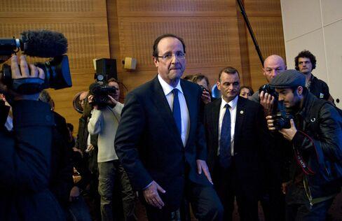France's Socialist Presidential Candidate Francois Hollande