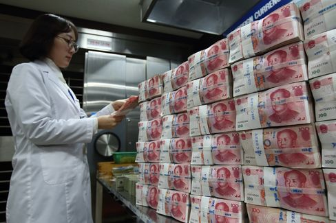 China Yuan Set for Worst Month in 20 Years on Band-Widening Bets