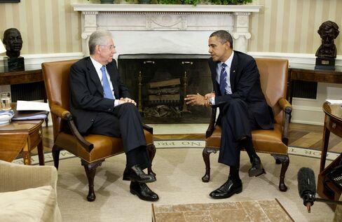 U.S. President Obama, Italy's Prime Minister Monti