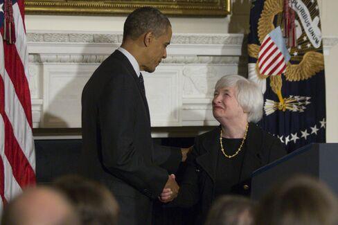 Fed Vice Chairman Janet Yellen & U.S. President Barack Obama