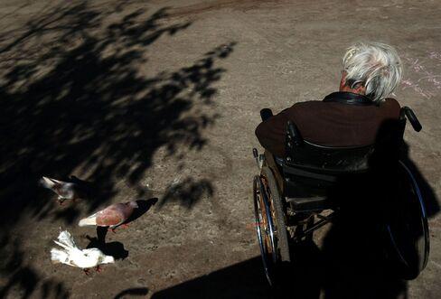 Elderly Man at a Nursing Home