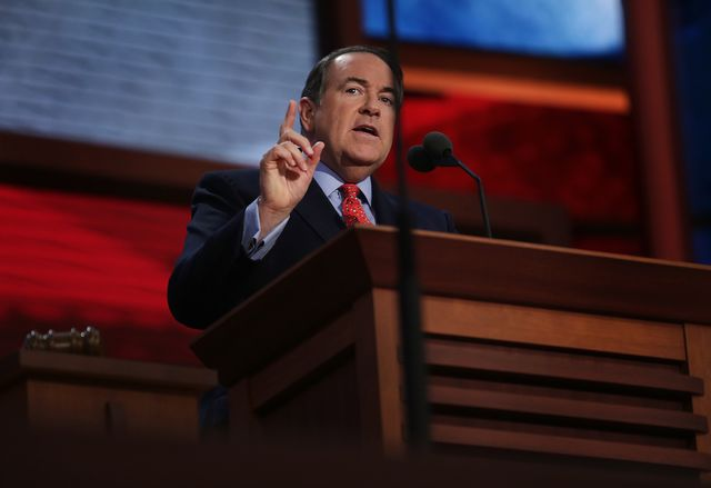 Mike Huckabee is polling better than Rick Santorum. Photographer: Scott Eells/Bloomberg