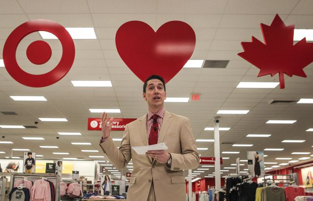 Dear Canadians: Welcome to Target, where your stagnant wages will go slightly further. Photographer: David Cooper/Toronto Star via Getty Images