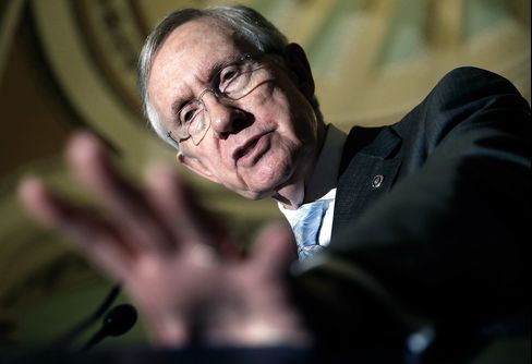 Senate Majority Leader Harry Reid (D-NV) speaks at a press conference on July 15, 2014 at the U.S. Capitol in Washington, DC.