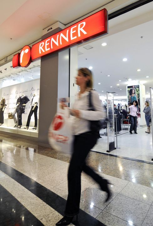 A Woman Exits A Renner Clothing Store
