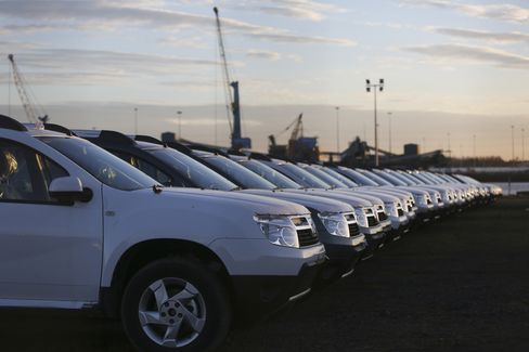 Renault's Dacia Duster Automobiles Sit at the Port of Tyne