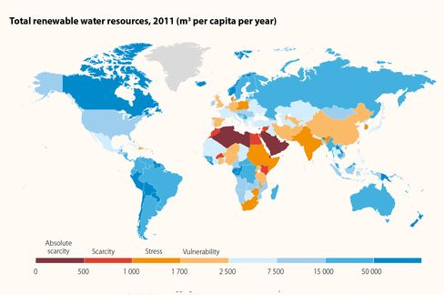 Total Renewable Water Resources, 2011