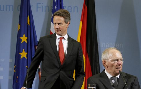 Timothy Geithner and Wolfgang Schaeuble