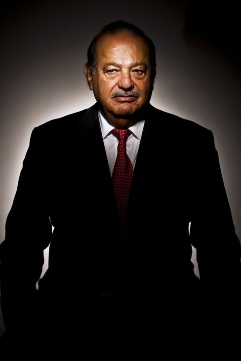 Mexican billionaire Carlos Slim in New York. Photographer: Chris Goodney/Bloomberg