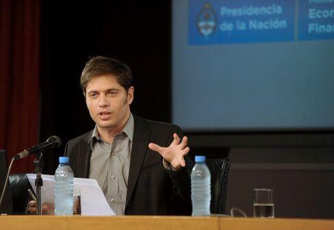 Argentina Economy Minister Axel Kicillof