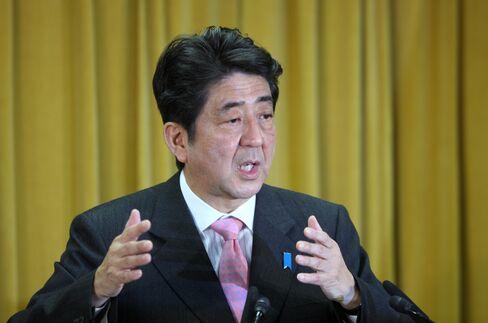 LDP President Shinzo Abe