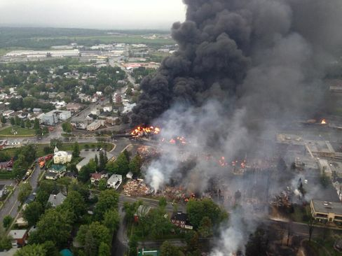 Train Derails in Quebec, Setting Off Explosions; Three Die