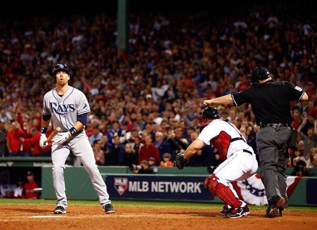 Two strikes. Your're out! Photographer: Jared Wickerham/Getty Images