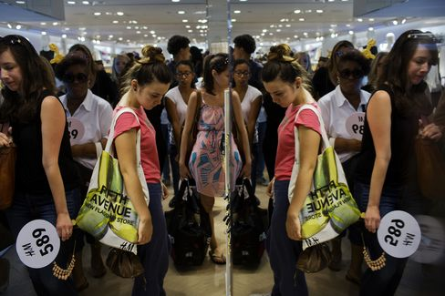 Shoppers at an H&M Store