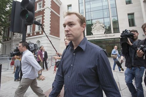 Tom Hayes leaving Westminster Magistrates Court on June 20, 2013.