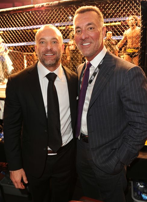 In 2001, brothers Frank Fertitta III and Lorenzo Fertitta, heirs to their father's casino business, bought Ultimate Fighting Championship for $2 million. Photographer: Jason Merritt/Getty Images
