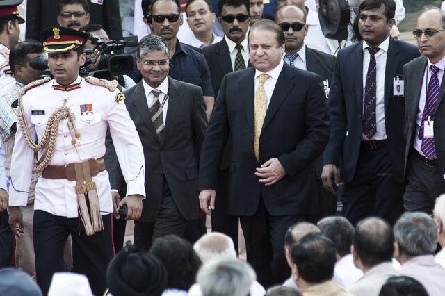 Nawaz Sharif, the center of it all.Photographer: Udit Kulshrestha/Bloomberg