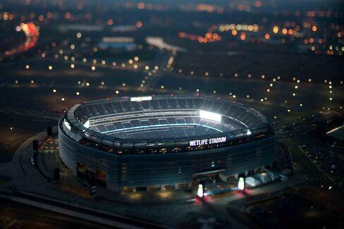 Aerial view of MetLife Stadium