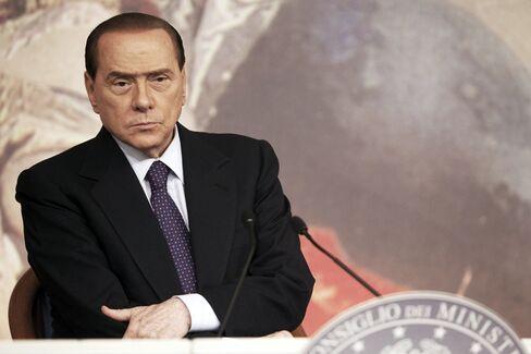 Italy's Prime Minister Silvio Berlusconi