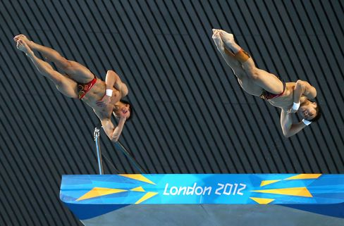 China Wins Olympic Men's Synchronized 10-Meter Platform Dive
