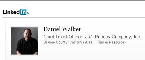 J.C. Penney Chief Talent Officer Daniel Walker