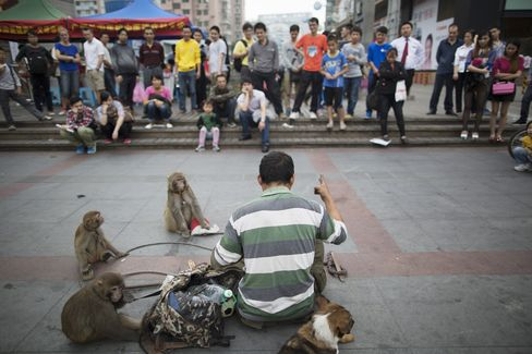 Street Performer In Guangzhou
