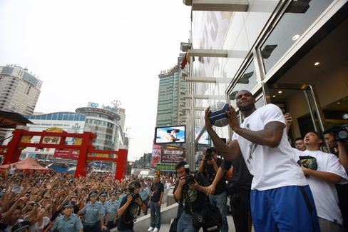 LeBron James in China