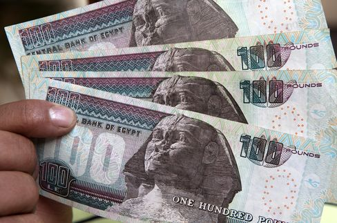 Egypt Stocks Fall as Pound Forwards Drop After Mursi Defies Army