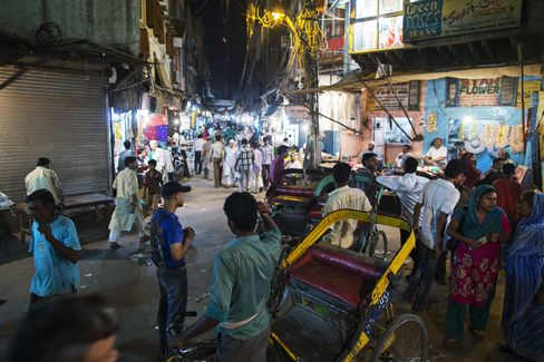 Rickshaws in New Delhi