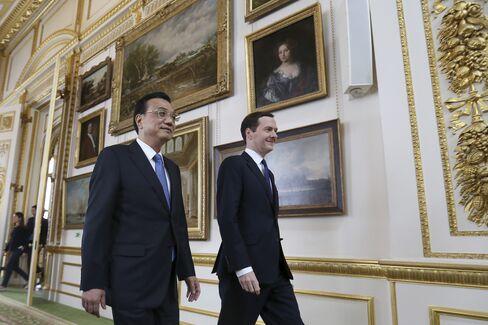 Premier Li Keqiang and George Osborne