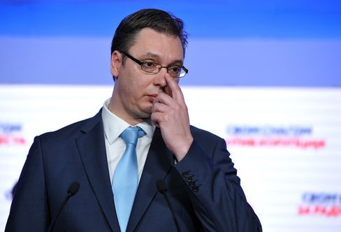 Serbian Prime Minister-Elect Aleksandar Vucic