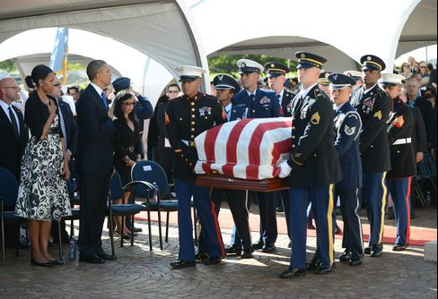 Obama With First Lady Attends Service for Senator Daniel Inouye