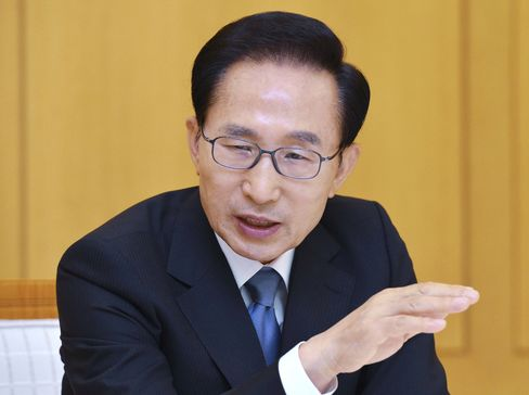 South Korea's President Lee Myung Bak