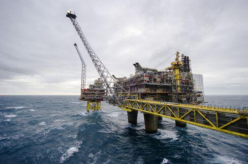 Statoil's Oseberg A offshore gas platform