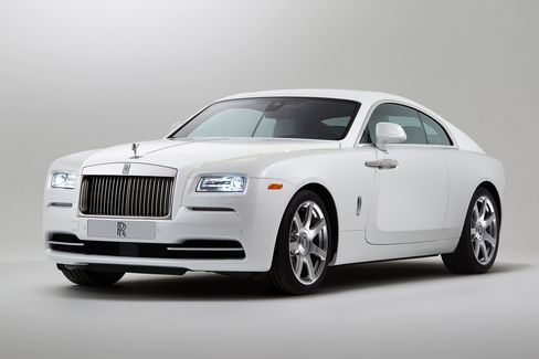 The Wraith is a V-12, 642-horsepower coupe, controlled by an eight-speed automatic transmission. Combined fuel economy is 15 miles per gallon.