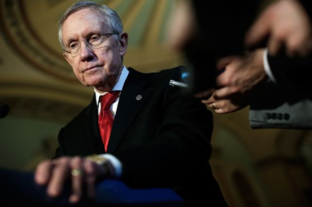 Republicans pushed Senate Majority Leader Harry Reid to change the rules on confirmation votes.Photographer: Win McNamee/Getty Images