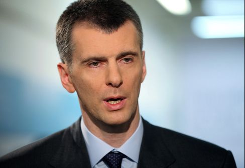 Russian Billionaire Mikhail Prokhorov