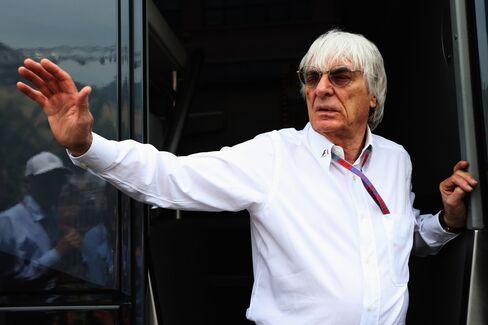 Formula One's Chief Executive Officer Bernie Ecclestone