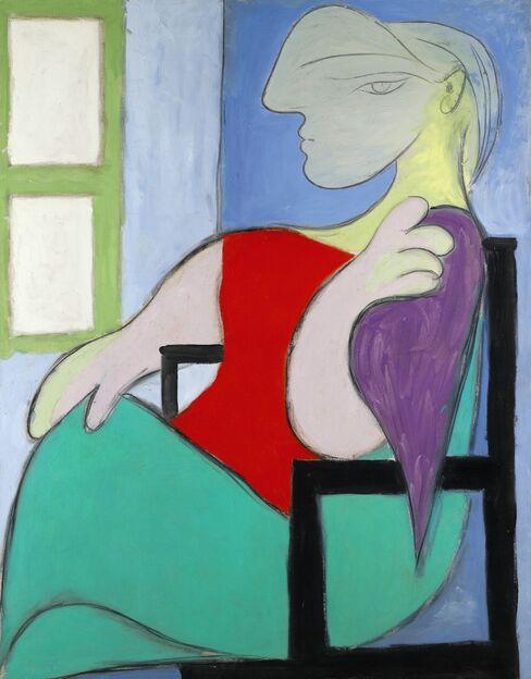 'Femme assise pres d'une fenetre'