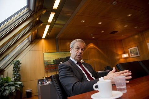 Norges Bank Governor Oeystein Olsen