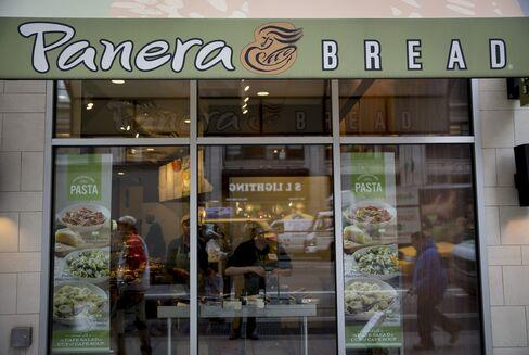 Pedestrians Pass a Panera Bread Co. Location in New York