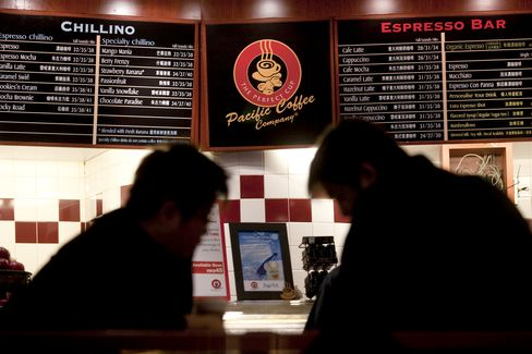 Pacific Coffee to Target Starbucks With 1,000 Stores