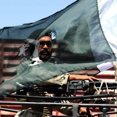A Pakistani paramilitary soldier