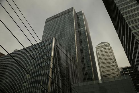 JPMorgan Chase & Co. Offices Stand in Canary Wharf, London