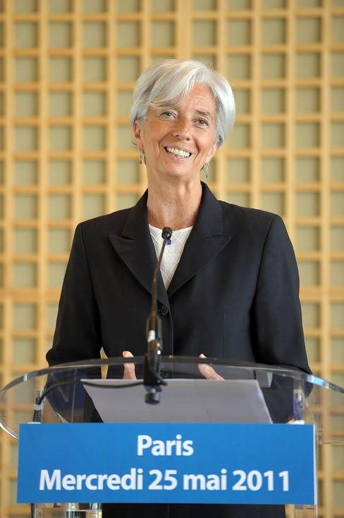 French Finance Minister Christine Lagard