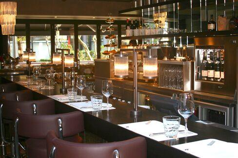 The bar at Galvin La Chapelle restaurant