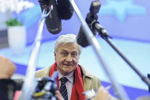 Jean-Claude Trichet, president of the European Central Bank (ECB). Photographer: Jock Fistick/Bloomberg