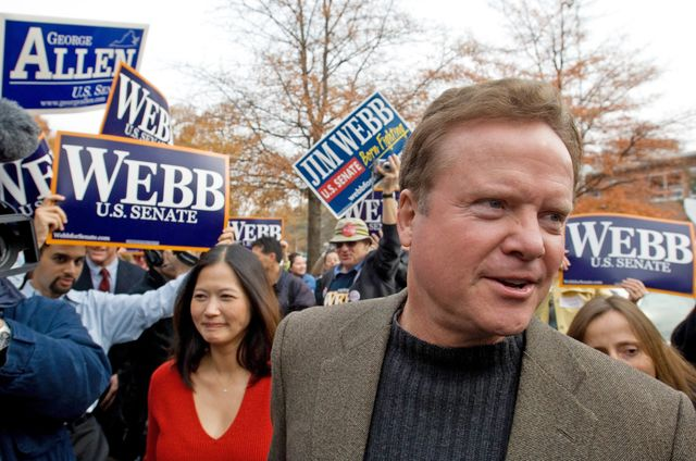 Jim Webbcould be drafting himself for the job of VA secretary.Photographer: Chris Greenberg/Bloomberg