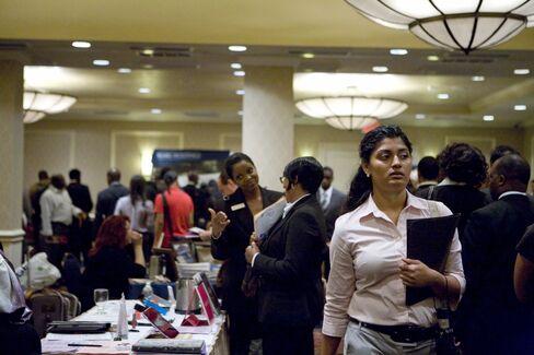 Job Seekers at Job Fair